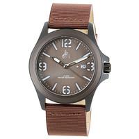 Armbanduhr braun/weiß