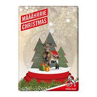 """Blechschild """"Weihnachtskarte"""" 2016"""