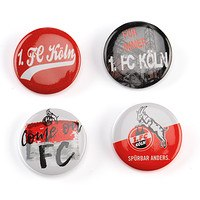 Buttons 4-er Set Come on FC