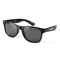 Sonnenbrille schwarz mit farbigem Logo
