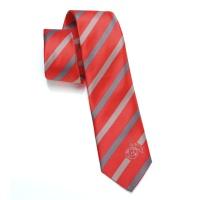Krawatte rot/anthrazit gestreift