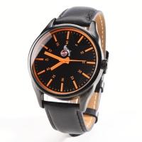 Armbanduhr orange m. Wechselarmband