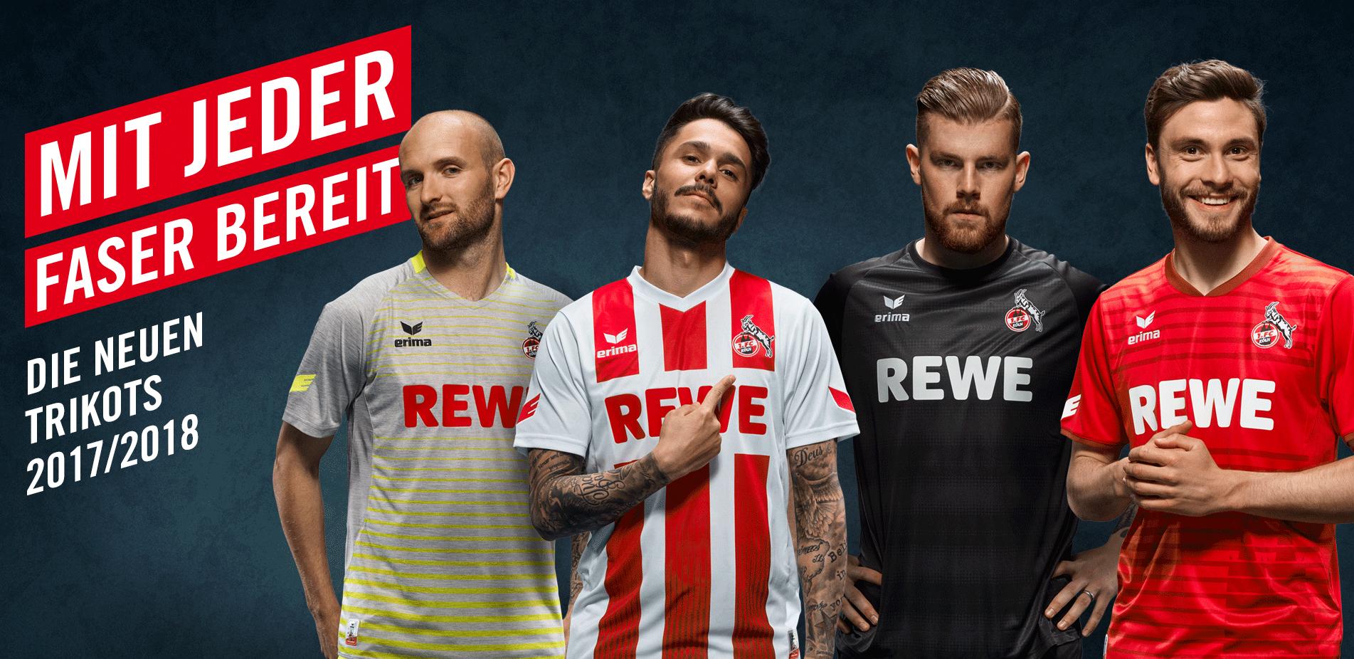 Die neuen Trikots des 1. FC Köln 2017/2018